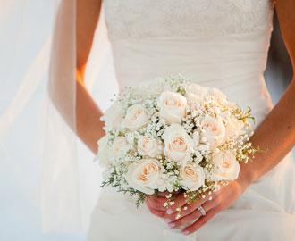 Hochzeitsblumen und Brautstrauß